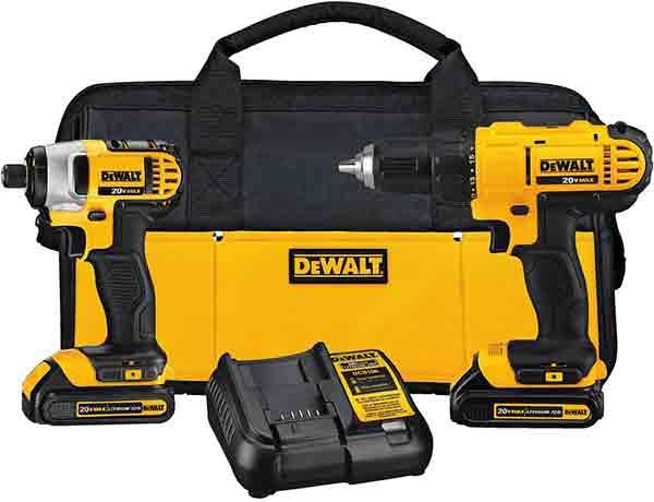 DEWALT 20V MAX Cordless Drill Set Combo Kit
