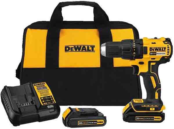 DEWALT 20V MAX Cordless Drill Driver Kit  Compact  Brushless DCD777C2