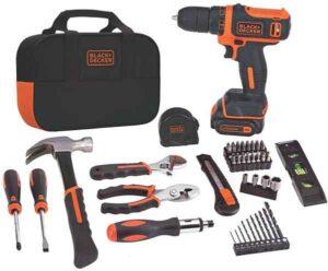 BLACK+DECKER 12V MAX Drill Tool Kit 60-Piece BDCDD12PK