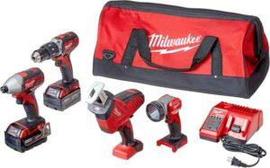 Milwaukee Cordless Power Tools 18V With Combo Kit 2695-24 M18