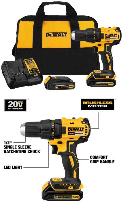 DEWALT 20 Volts MAX Cordless Drill Driver Kit DCD777C2