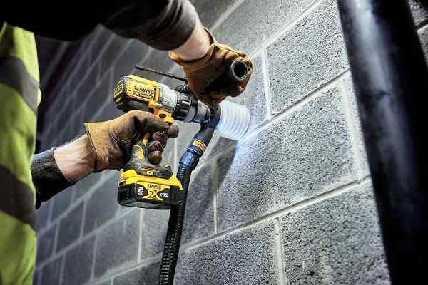 Drilling on wall with DeWALT DCD996B