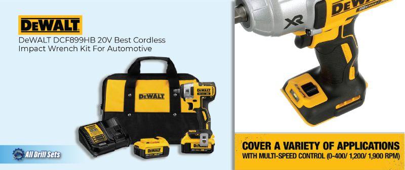 DeWALT DCF899HB 20V Best Cordless Impact Wrench Kit