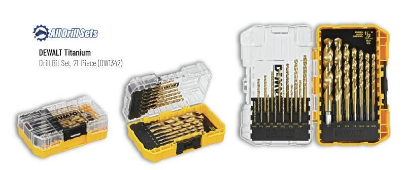 DeWALT DW1342 Titanium Drill Bit Set