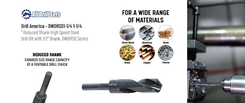 Drill America Reduced Shank High-Speed Boring Drill Bits