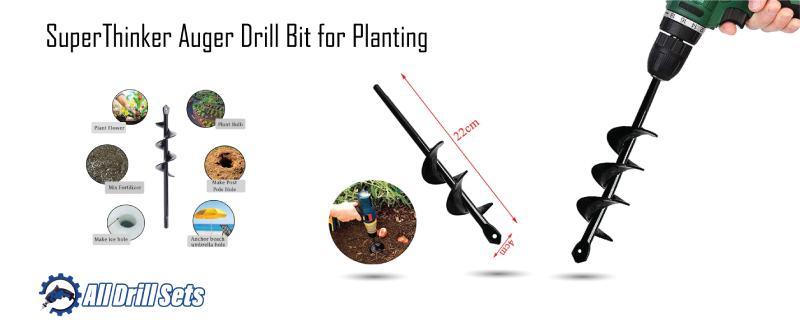 SuperThinker Auger Drill Bit for Planting